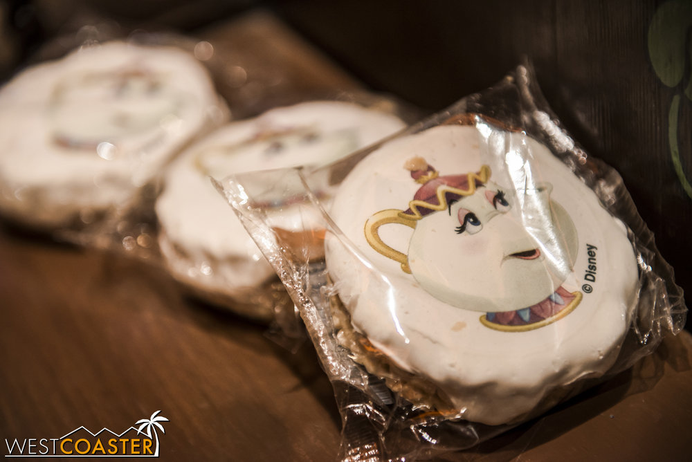 Beauty and the Beast  rice crispy treats are offered at the cashier.