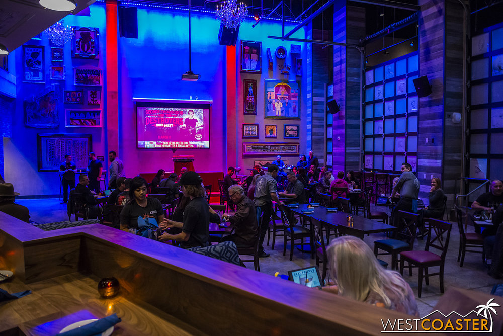 The main restaurant and bar area.  This section offers a DJ area.