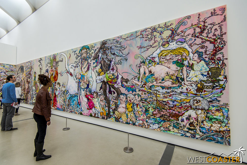 Takashi Murakami's impressive  In the Land of the Dead, Stepping on the Tail of a Rainbow .