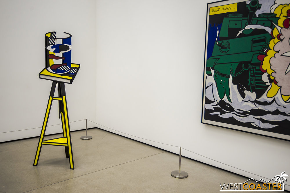 Roy Lichtenstein's  Goldfish Bowl  on the left.