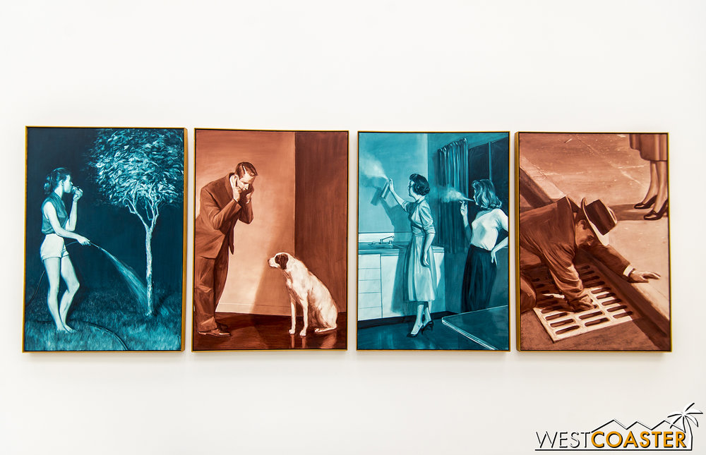 Mark Tansey's  Four Forbidden Senses .