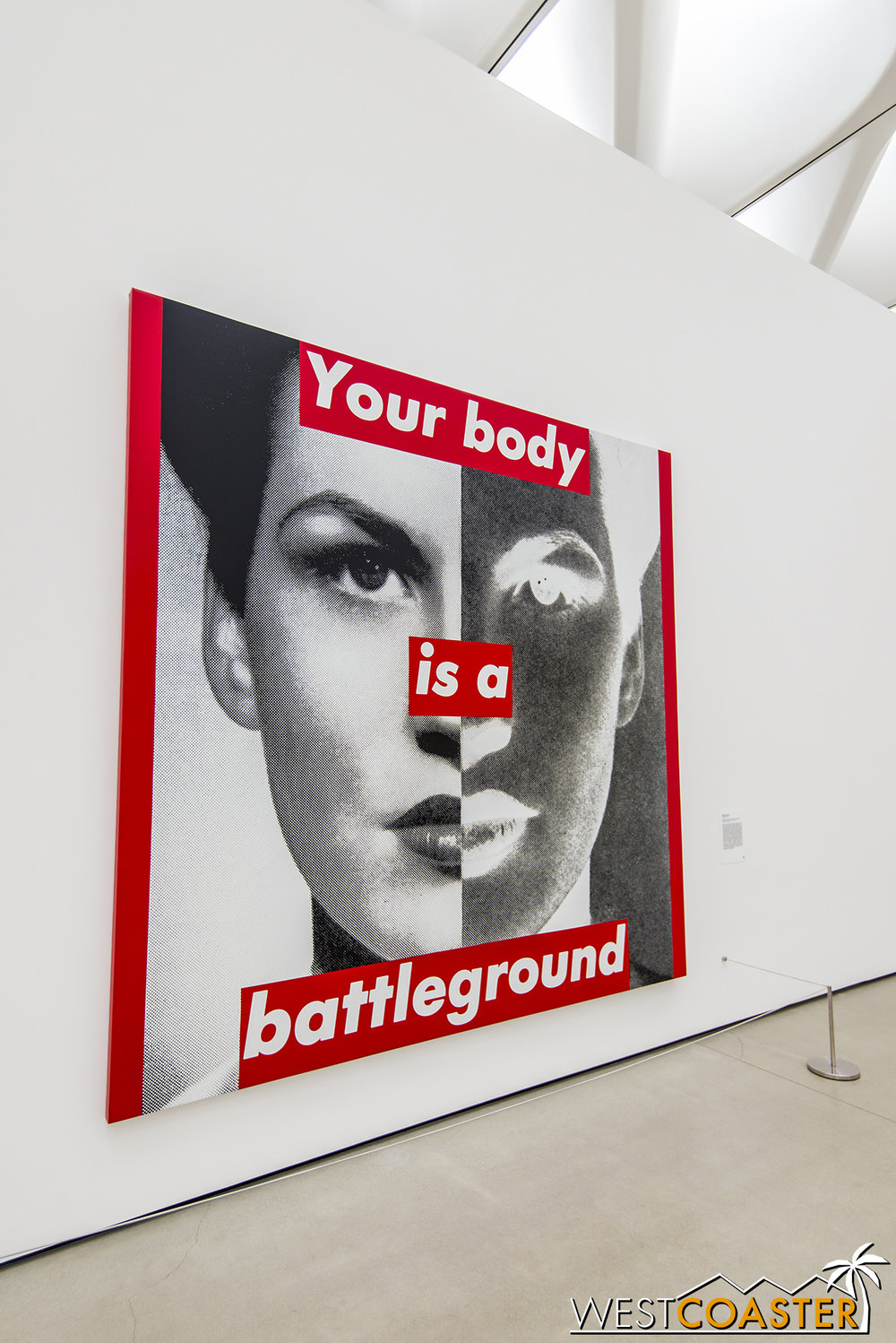 Barbara Kruger's  Untitled (Your body is a battleground) .