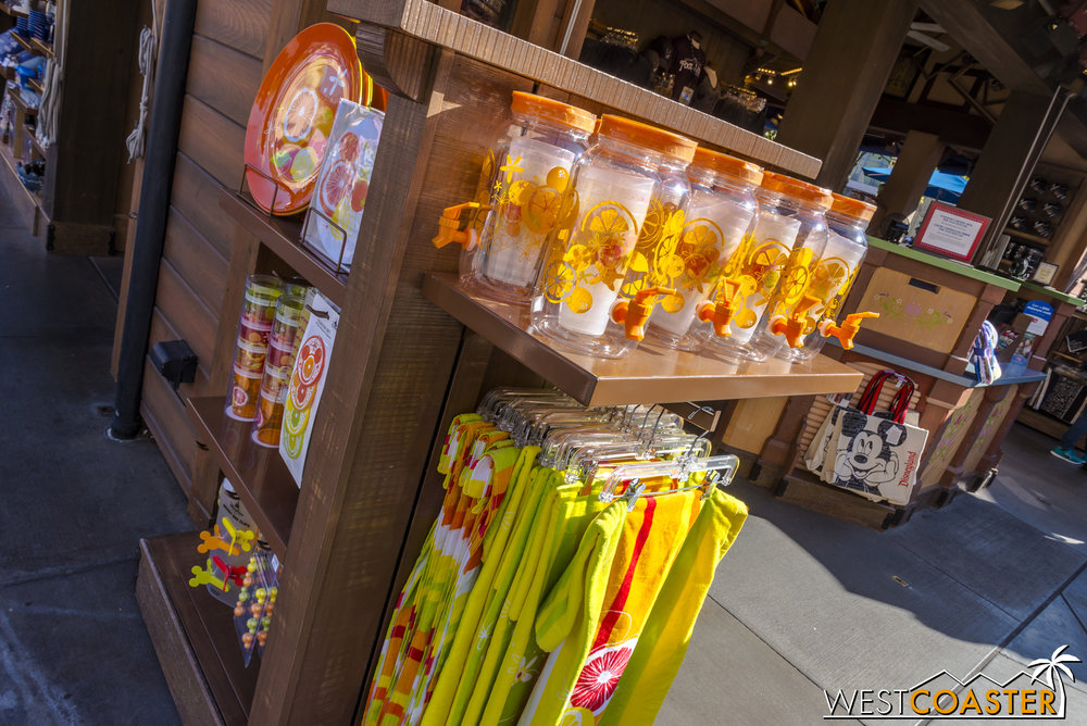 And though not specifically part of the Food & Wine Festival, I thought this stand in Hollywood Land across from the old Muppetvision 3D Theater had some really fun tumblerware perfect for summer.