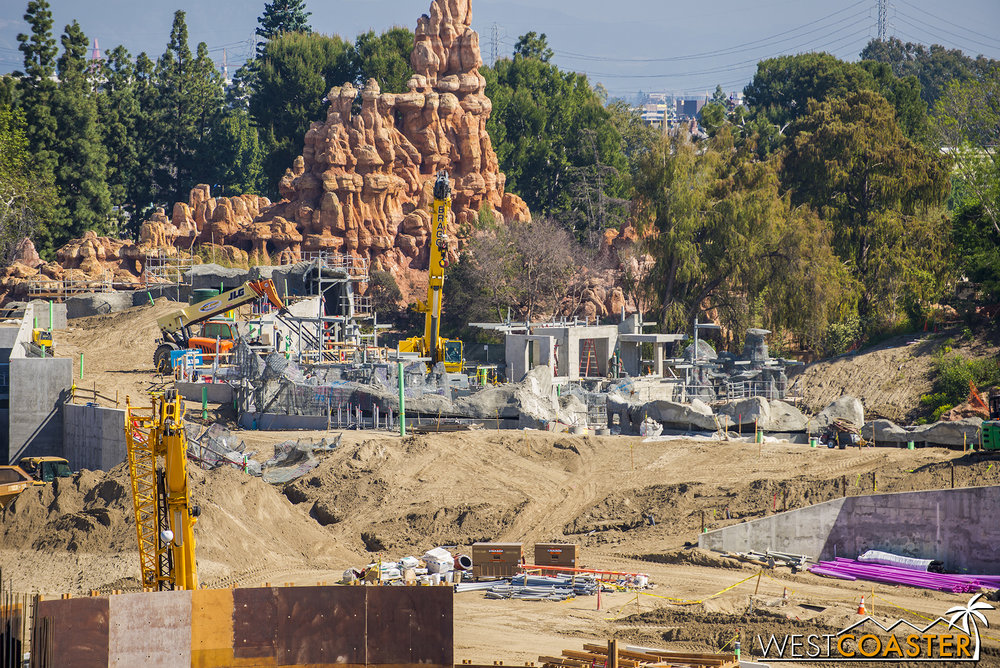 "Moving onto the structures near one of the ""Star Wars"" Land main entrances..."