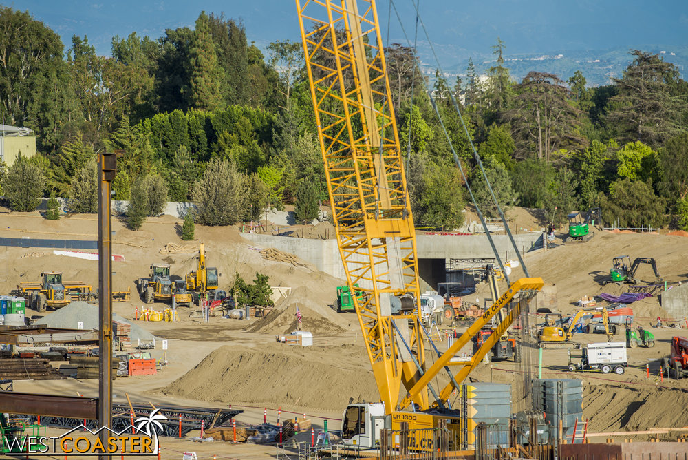 "Finally, we'll focus on the back wall that separates ""Star Wars"" Land from the Rivers of America and Frontierland."