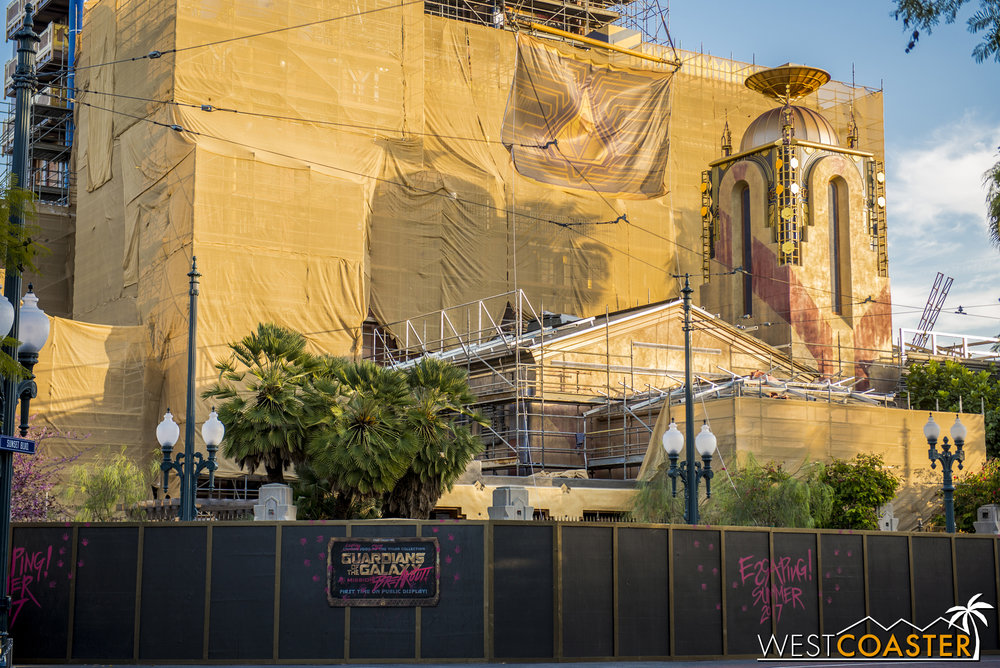 The transformation of the Tower of Terror has been revealed in pretty visible degree.