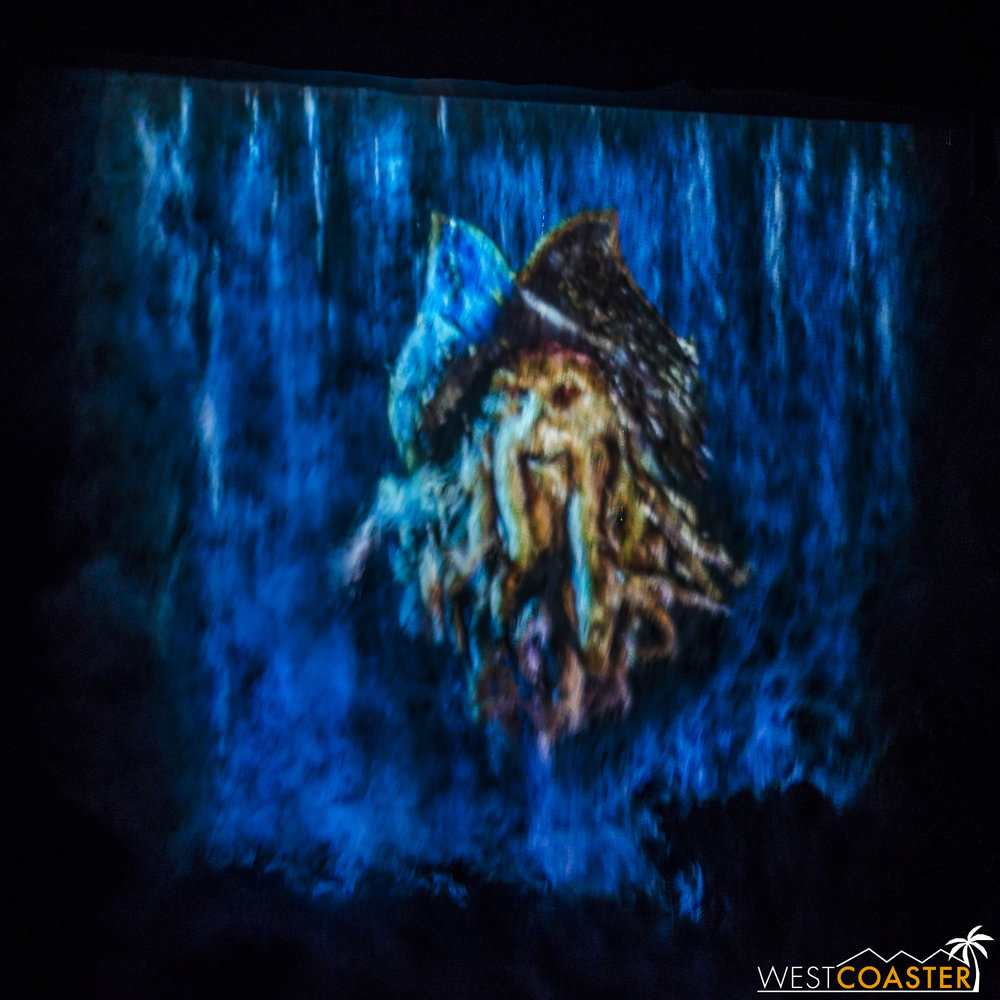 The Davy Jones projection has been fixed and now works!  Unfortunately, the projector is still not quite focused crisply.
