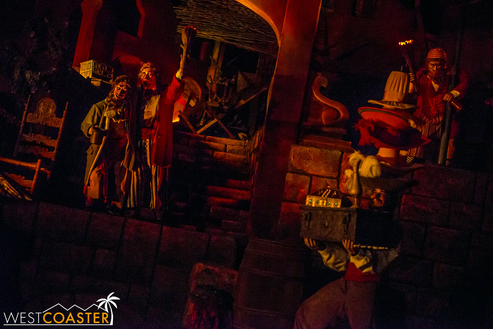 Club 33 is actually not the only place one can drink in Disneyland Park.  Pirates is where all the animatronics go to get drunk.