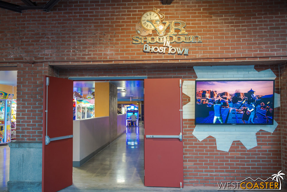 Over in the Boardwalk arcade area, under Voyage to the Iron Reef, the new VR upcharge has opened.