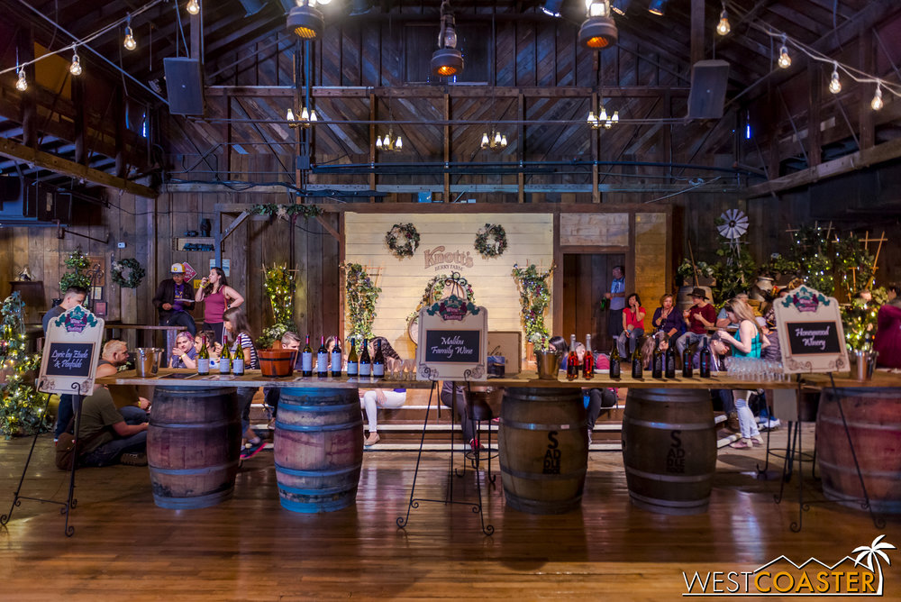 There's a nice setup inside the Wilderness Dance Hall for boozing.