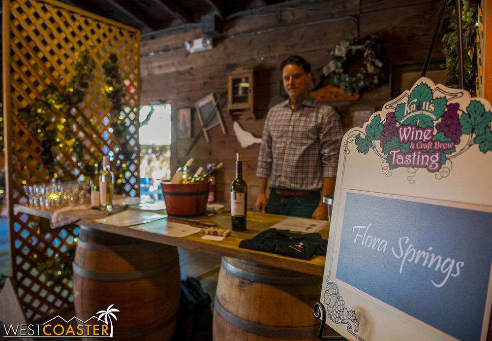 Most of the booths were manned by Knott's employees, but Flora Springs actually had someone from the winery who could speak intelligently about the wines and grapes.