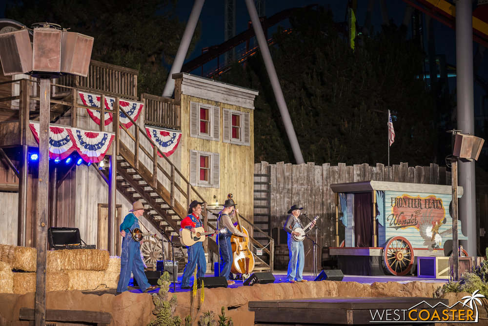 These talented musicians have imported their act from Disneyland over to Knott's and have found quite a bit of success in the three years they've been performing at the Farm.