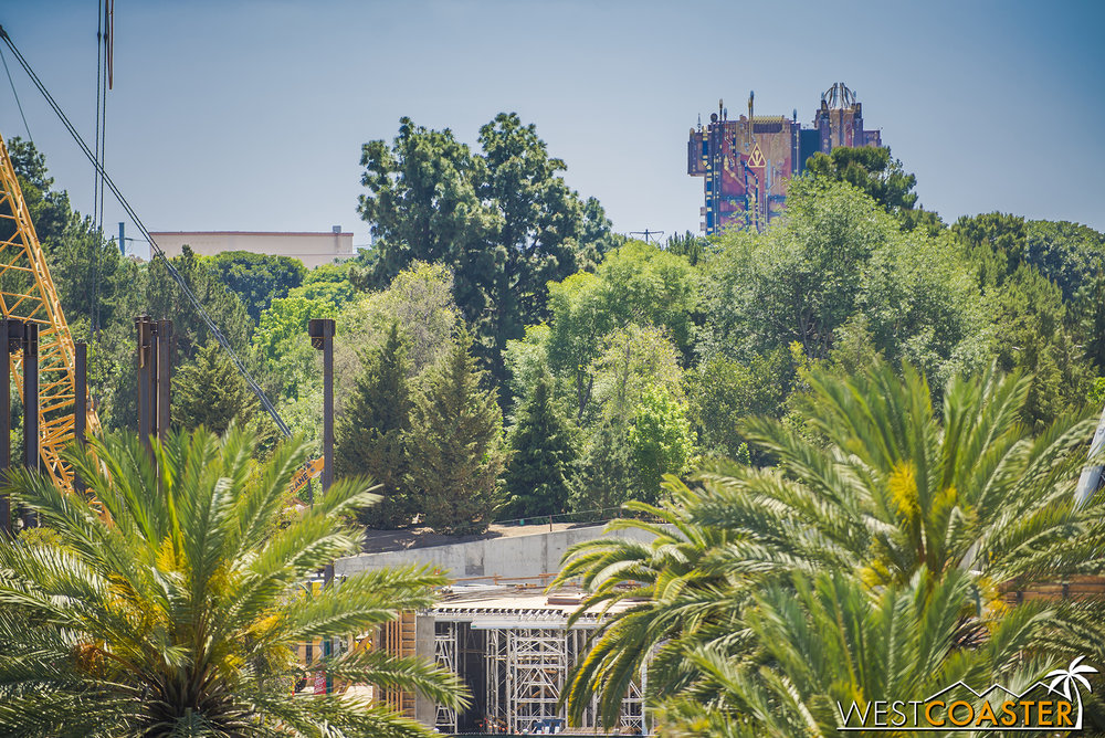 "And it seems like the trees separating the Rivers of America from ""Star Wars"" Land are starting to fill in more and more."