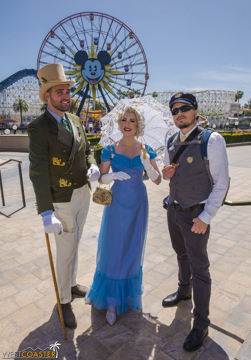Kit and Ella from the live action  Cinderella , and their friend, who Disneybounded as Captain Nemo from  20,000 Leagues Under the Sea .