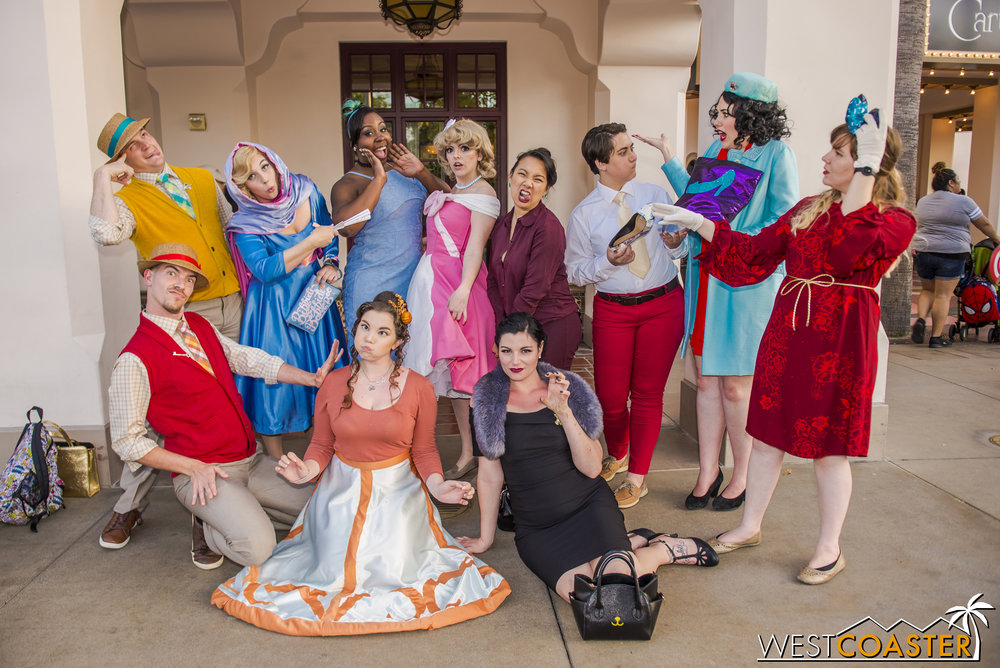 A medley of characters compose this super Disneybound group.