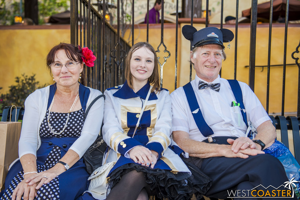 This family seemed to coordinate along the Fantasy Faire cast member outfit motif.