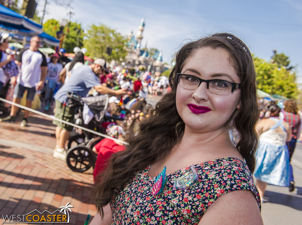 It's an excuse for Disney fans, like friend of Westcoaster, Jessica, to look extra pretty for a day at the parks.