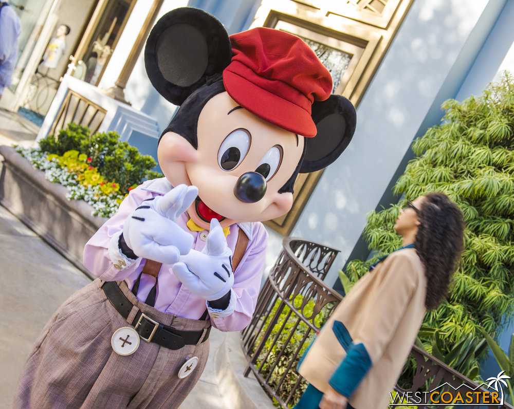 Mickey seemed to like what he saw.