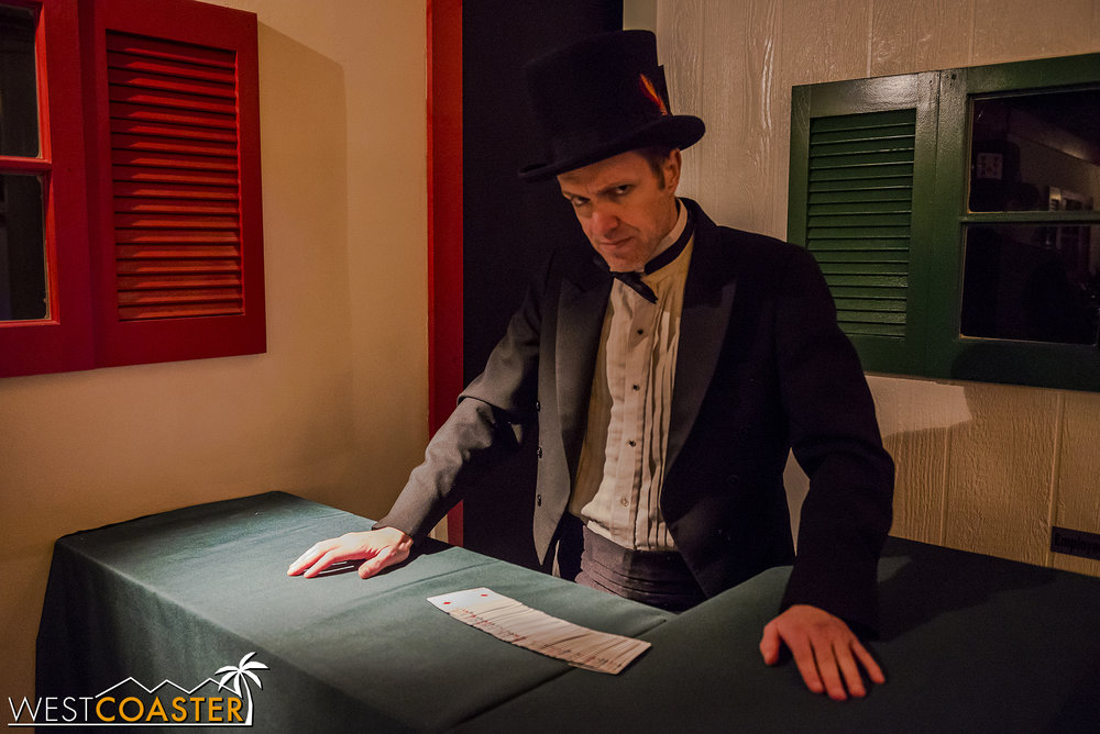 "Guests are greeted by their host for the reunion, hired magician ""Maximilian the Magnficent.""  Max provides the background story to the scene, explains the rules, and sets the the game in motion.  He also remains in the room and provides clues where needed."