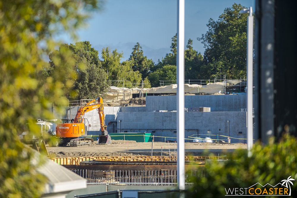 But that might change any day, now that steel has gone up at one end of the Millennium Falcon ride building.