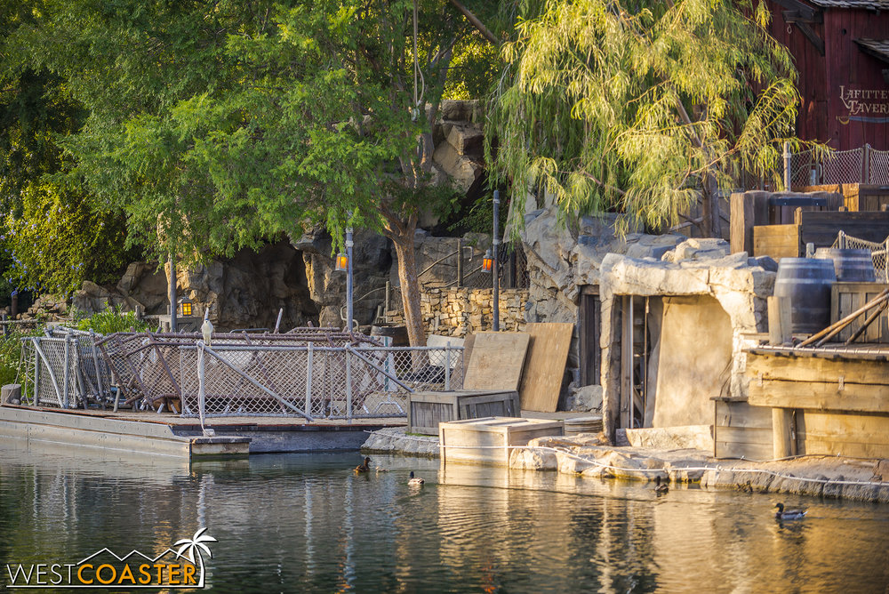 Some additional work is happening at Tom Sawyer Island again.  It had looked finished previously, but I guess there's still some improvements to be made.