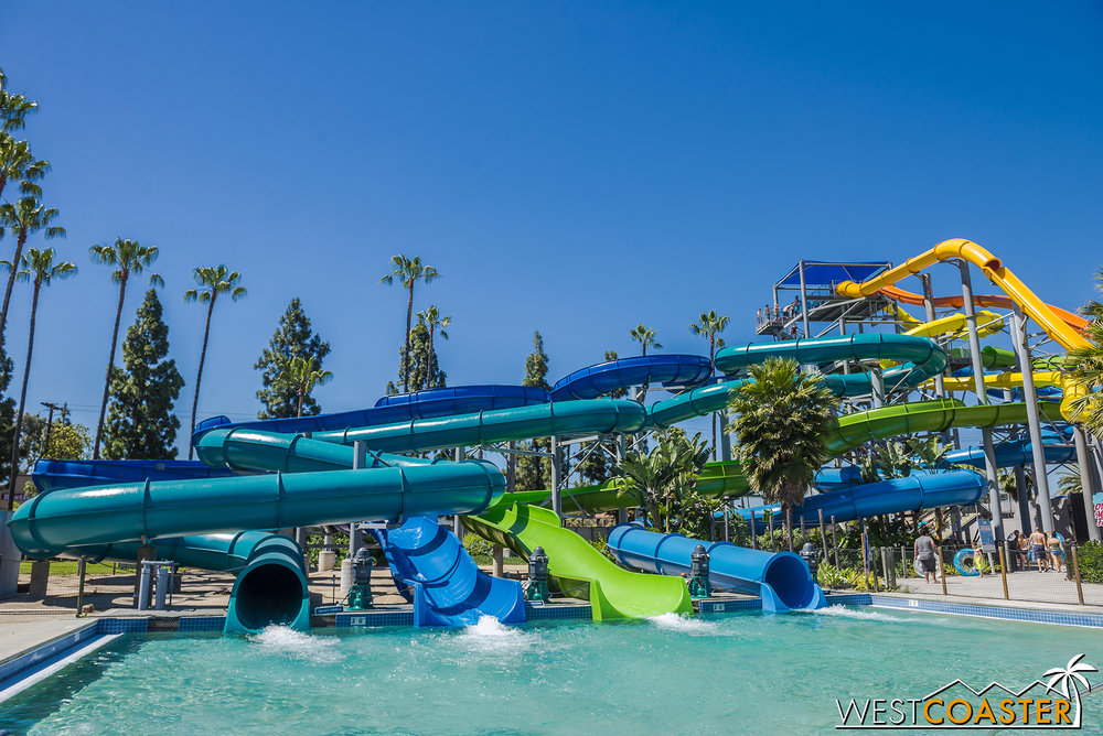 All four of these slides are of the single-person inner-tube variety.