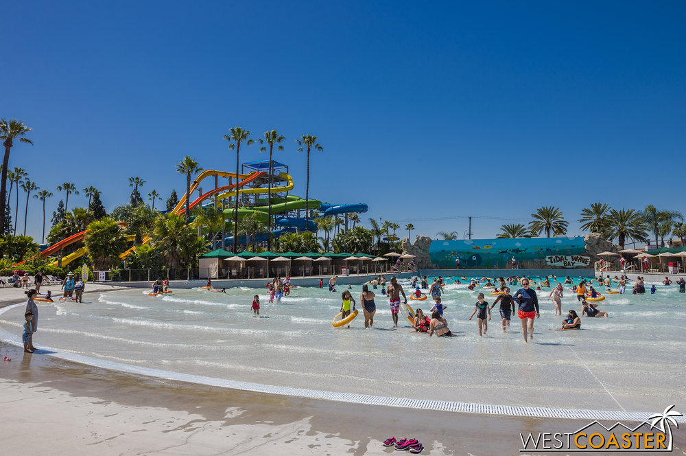 Tidal Wave Bay offers a bodyboarding area with its own wave pool.