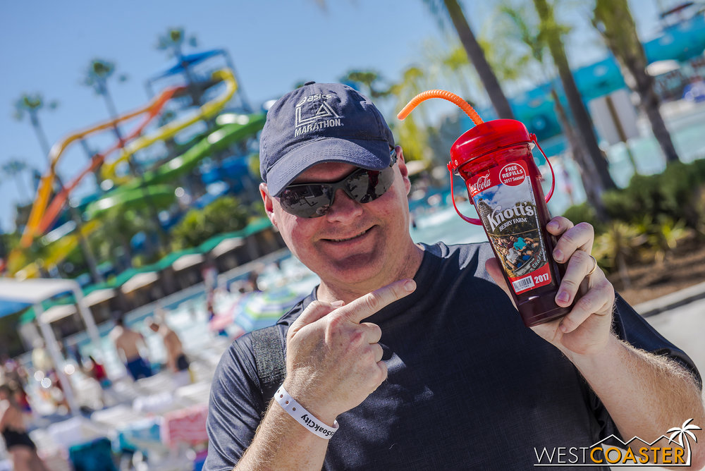As a sidenote, our friends (friend?) at Park Journey would like to remind you that you can use your Knott's souvenir cup at Soak City as well, not just Knott's Berry Farm!