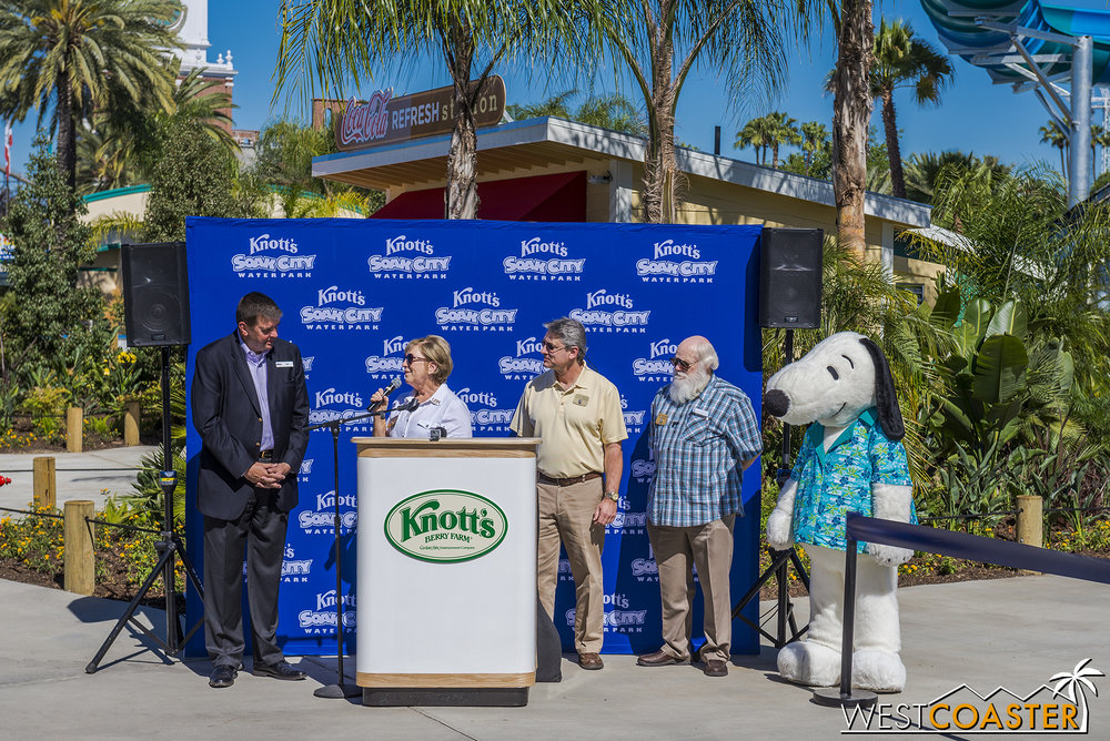 Swift thanks Knott's for the employment and economic support the resort provides the local city and residents.