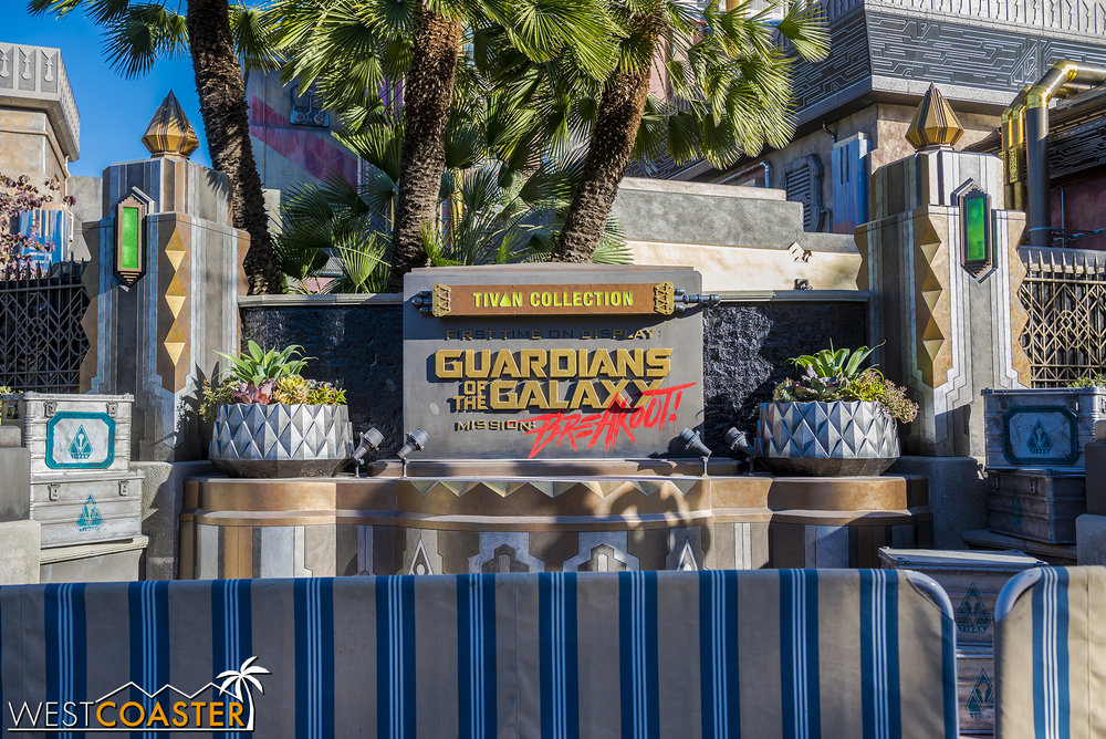 The ride sign was also unveiled this past week.
