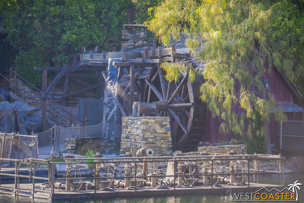 Little by little, exciting signs are coming online to mark the impending completion of the Rivers of America redo.