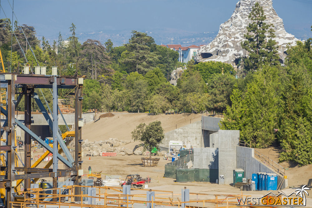 "But all that vegetation is pretty dense, and it'll serve as a great buffer while ""Star Wars"" Land continues being built."