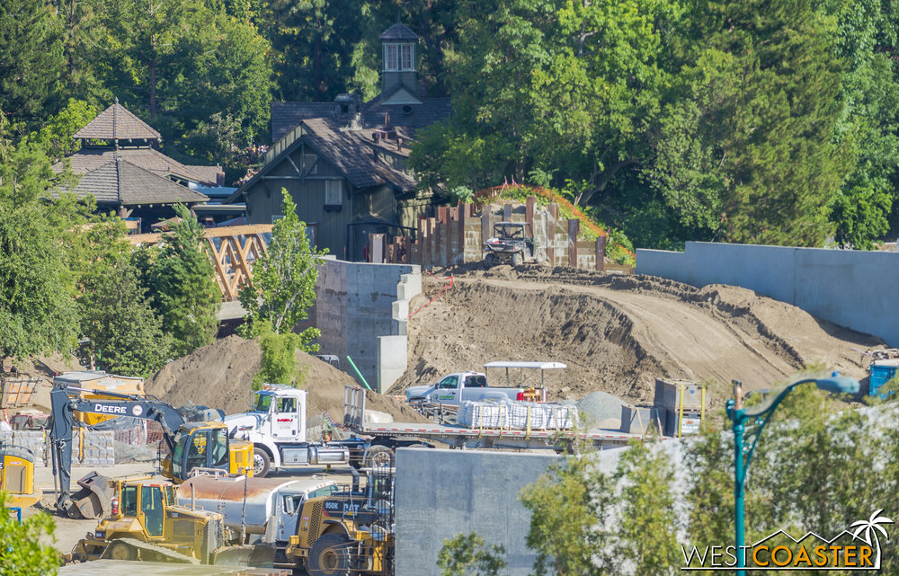 Lets take a look at the area behind the Hungry Bear, as we see some notable progress from the last time.