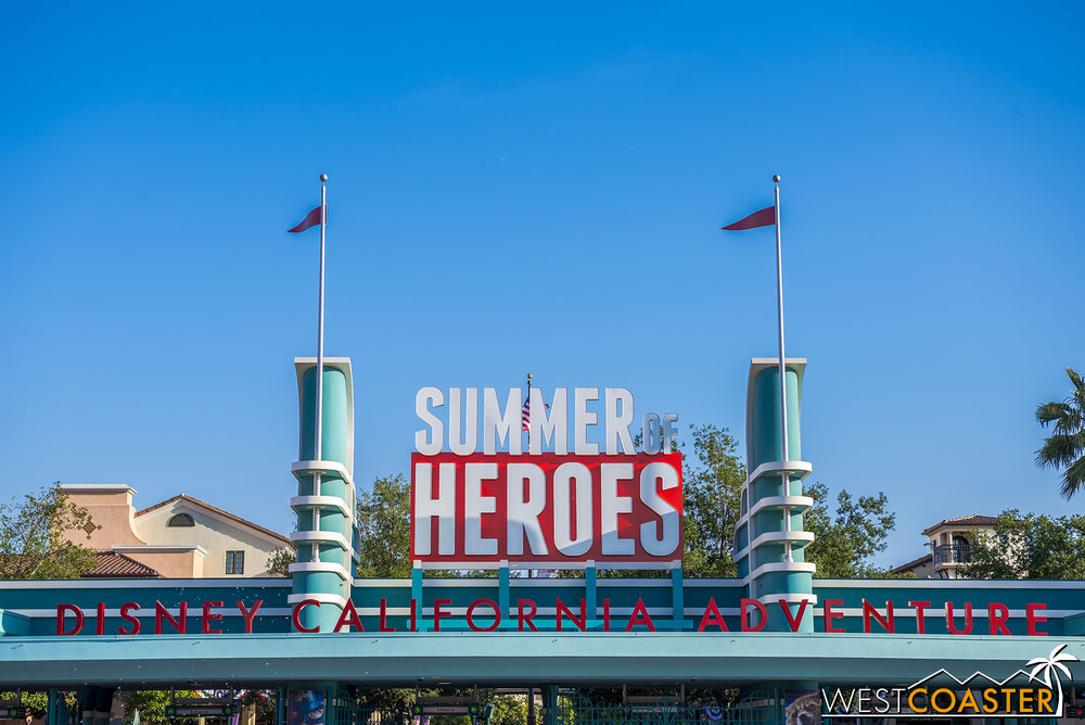 It's the Summer of Heroes!  Because Summer of Zeroes is kind of insulting.