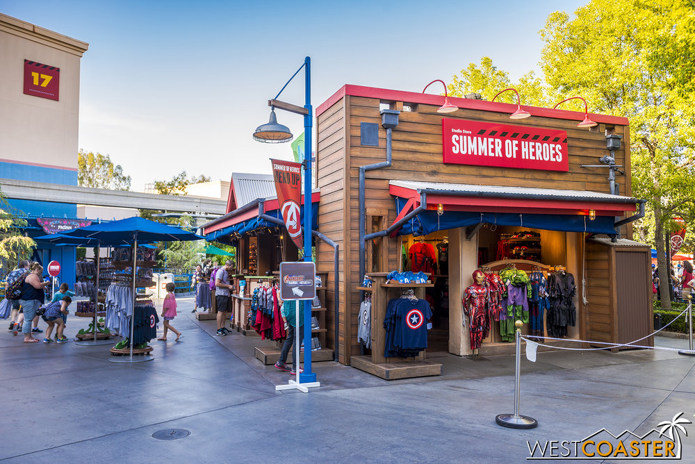 The Frozen souvenir shop is now a Marvel souvenir shop.