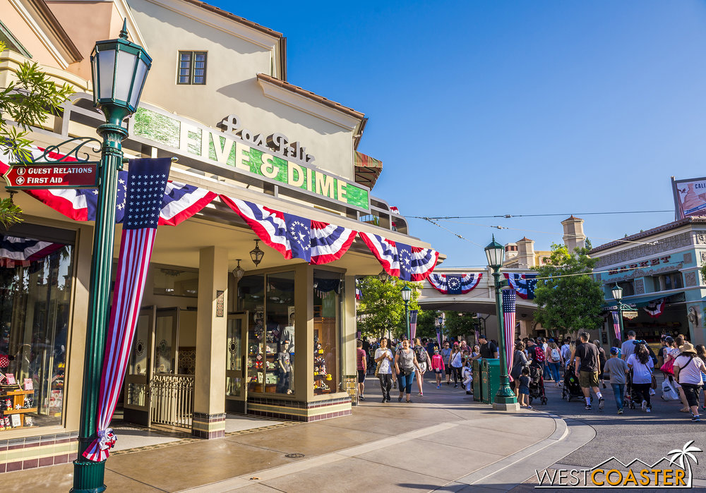 It's beautiful and American on Buena Vista Street.