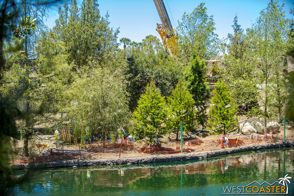 "The reopening of Tom Sawyer Island has provided glimpses of the eventual riverside path from Critter Country to ""Star Wars"" Land, but from the river's side."