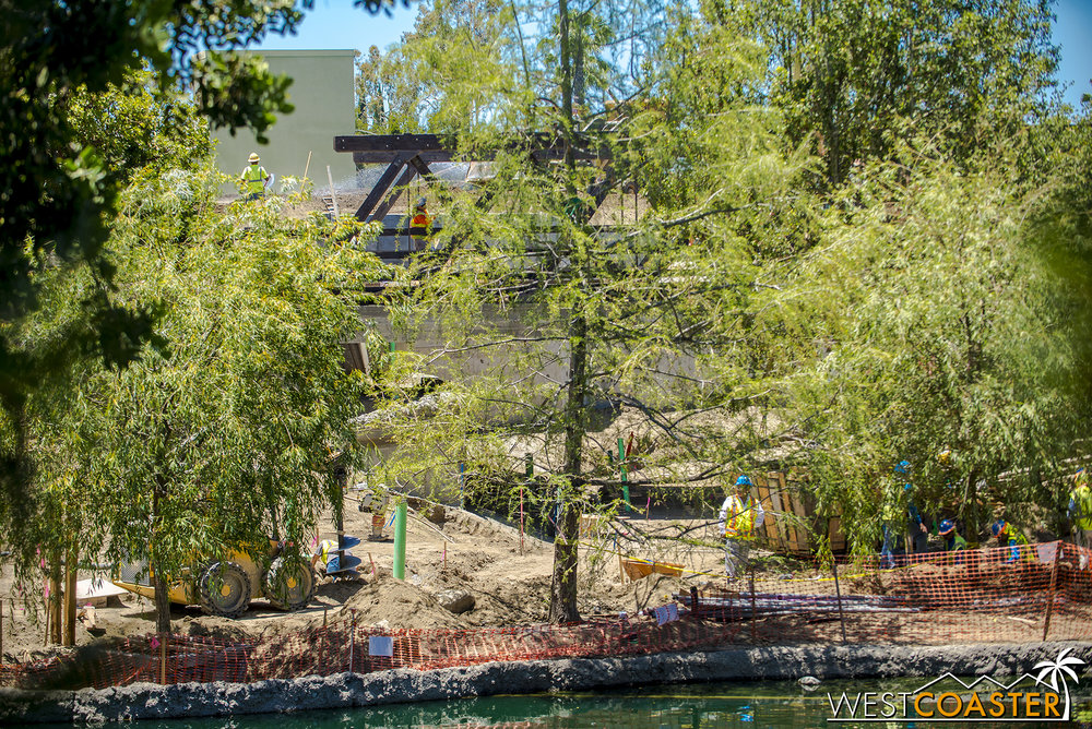 "This series is moving ""southward"" from the interior of the Rivers of America toward Critter Country, so you can see a glimpse of that truss bridge again."