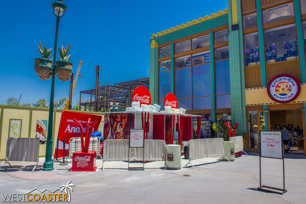 "On Saturday morning, these custom Coke bottle machines were being set up, and it seems like they were working by weekend's end, since I saw a friend or two show off a ""Share a Coke"" bottle with a custom name.  Pretty cool!"