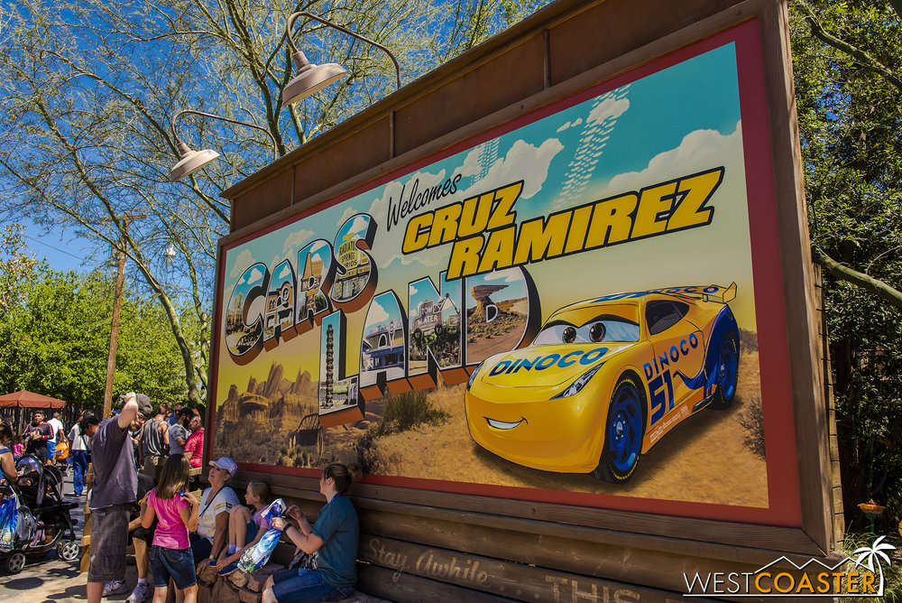 Naturally, with  Cars 3  newly released in theaters, there has to be an in-park promotion.