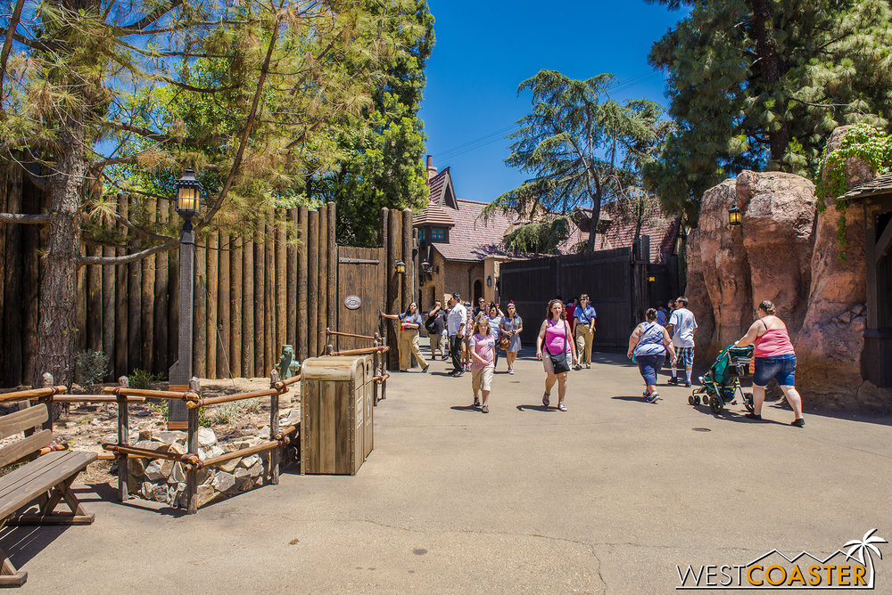 "And since Fantasyland doesn't actually start till after the gates, I guess I shouldn't actually say ""Frontierland"" and ""Fantasyland"" entries into ""Star Wars"" Land.  The main entrances are both technically from Frontierland."