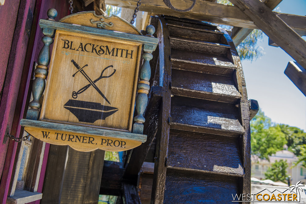 When Pirate's Lair was overlaid at Tom Sawyer Island ten years ago, they incorporated references into the  Pirates of the Caribbean  film franchise.
