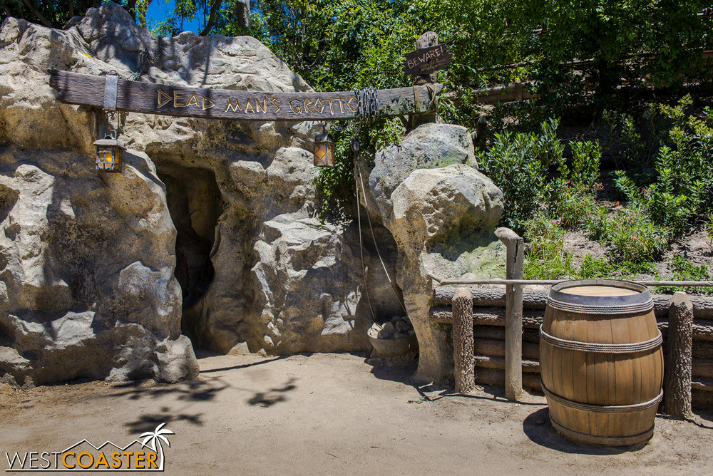 Theatrical elements are particularly strong in Dead Man's Grotto.
