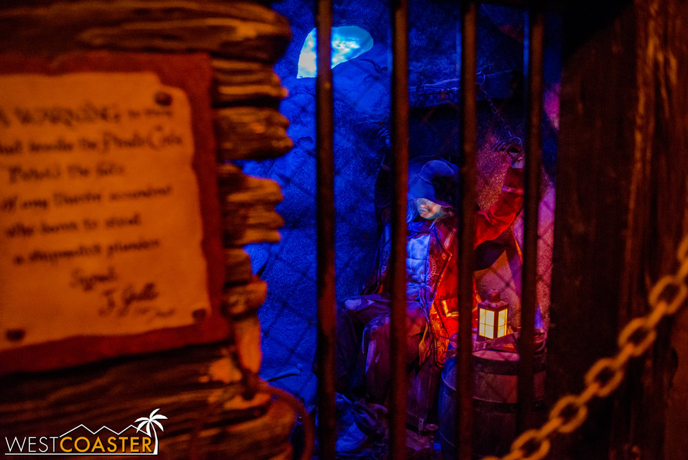 One chamber even features a poor captive pirate, doomed to be locked up forever.