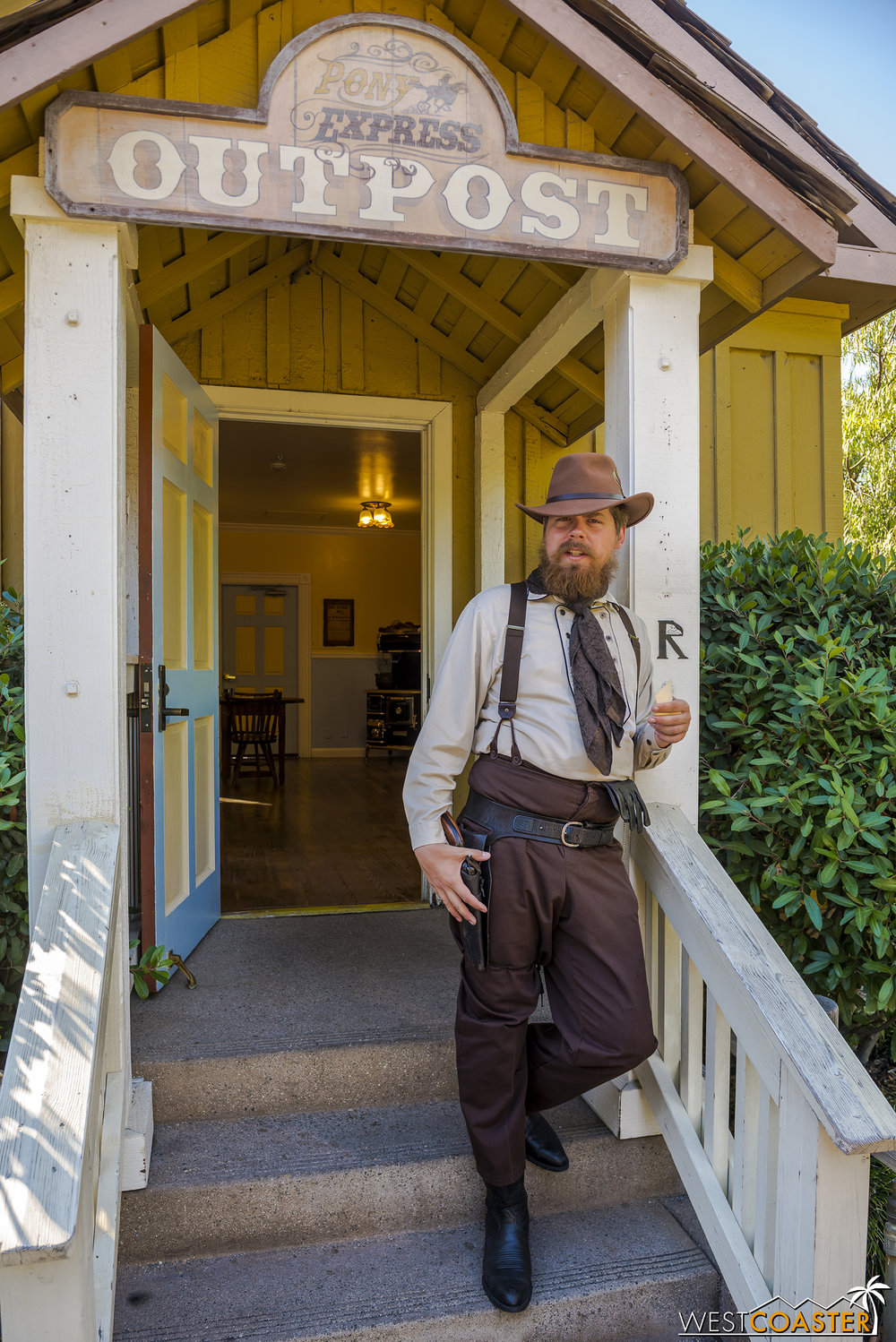 Brett Eastly also minds the new Pony Express office.