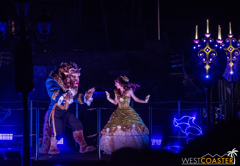Belle and Beast dance in a tale as old as time.