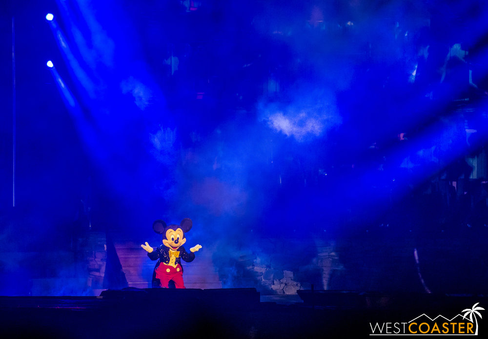 "There's a brief bit of one last bit of conducting as a brief snippet from the Tokyo Disney Sea ""Imagination"" suite plays through."
