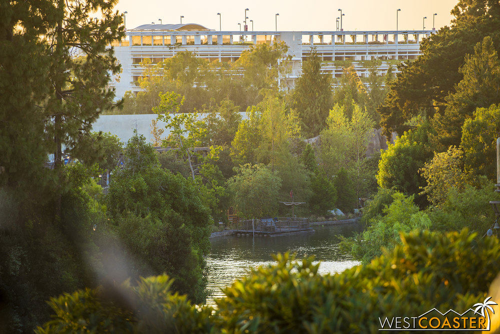 Here's a look over on the west side of the Rivers of America.