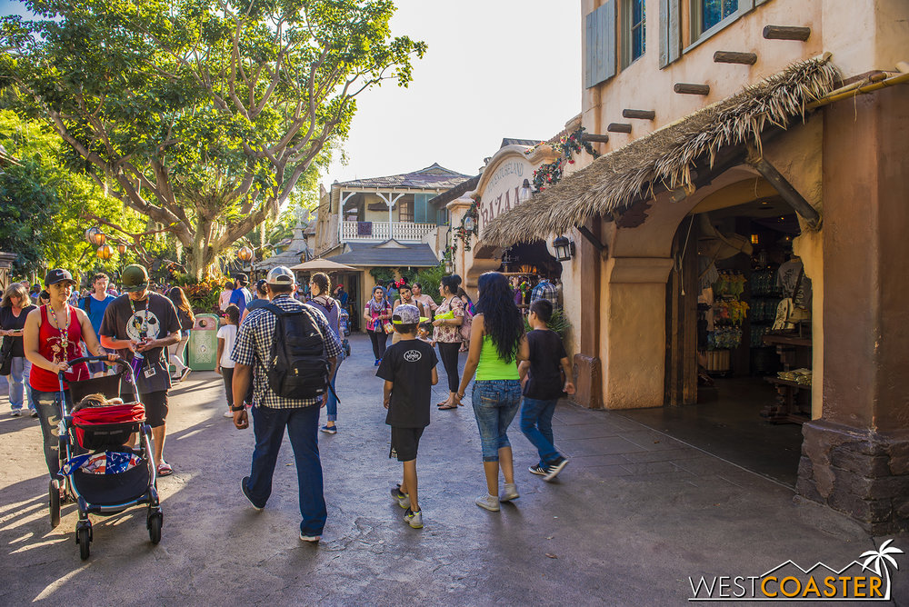 Take a look down the main thoroughfare of Adventureland! Notice anything different?