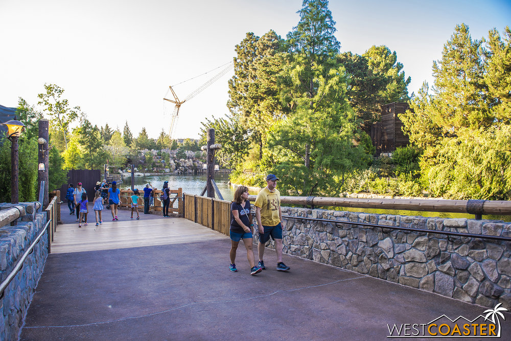 With the walls coming down, we can see a lot more of the Rivers of America!